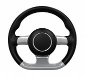 stock photo of steers  - Steering Wheel isolated on white background - JPG