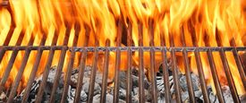 picture of charcoal  - Summer BBQ in the Backyard - JPG
