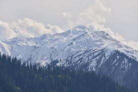 foto of karakoram  - snow mountain in Northern Pakistan before winter season - JPG