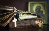 picture of rosary  - Still on  subject of  church with  Bible - JPG