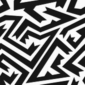 picture of swastika  - monochrome ancient seamless pattern  - JPG