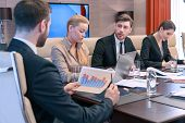 stock photo of motivation talk  - Business discussion - JPG