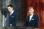 image of receptionist  - Best service at your disposal - JPG