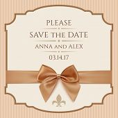 image of ribbon bow  - Save The Date - JPG