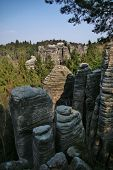 picture of bohemian  - Sandstone rocks in National park Bohemian Paradise Czech republic
