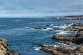 foto of mendocino  - A view of the rocky shore along Fort Bragg, California