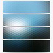 foto of hexagon  - Abstract hexagonal headers set - JPG