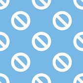 stock photo of bans  - Ban blue with white seamless pattern for web design - JPG