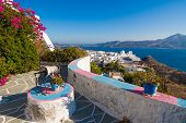 stock photo of architecture  - Typical Cycladic architecture Plaka village Milos island Cyclades Greece - JPG