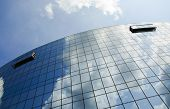 picture of prosperity  - Glass and mirror windows which symbolize the successful and prospering business and life - JPG