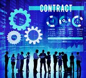 picture of bartering  - Contract Commitment Deal Barter Business Concept - JPG