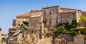 image of stone house  - Stone houses on the hill  - JPG