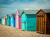 picture of beach hut  - Beach Huts on Hayling Island - JPG