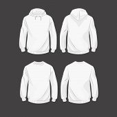 stock photo of hoods  - Set od hoodies - JPG