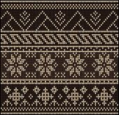 pic of knitting  - Fair Pattern sweater design on the wool knitted texture - JPG