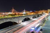 pic of dam  - Boston Zakim Bunker Hill Bridge and Charles River Dam Bridge - JPG