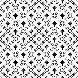 stock photo of celtic  - Black and White Celtic Cross Symbol Tile Pattern Repeat Background that is seamless and repeats - JPG
