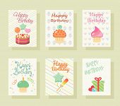 Happy birthday invitation card. Baby Greeting postcard. Happy birthday background. Design template.  poster