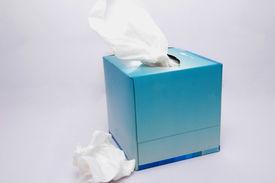 pic of tissue box  - the blue colour tissue box over white background - JPG
