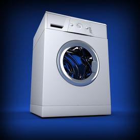 image of washing machine  - fine image 3d of classic washing machine background - JPG