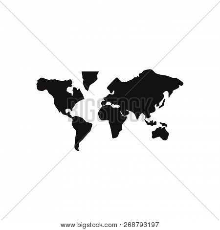 World Map Icon Isolated On