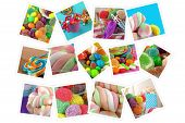 Candy Sweet Lolly Sugary Collage poster