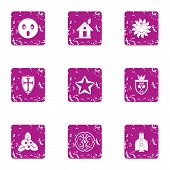 Discovery Icons Set. Grunge Set Of 9 Discovery Vector Icons For Web Isolated On White Background poster