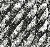 Distressed Overlay Texture Of Rope. Grunge Background. Abstract Halftone Vector Illustration poster
