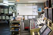 Ship Or Vessel Engine Control Room Ecr. Start Engine poster