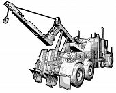 stock photo of tow-truck  - A sketchy schematic illustration of a tow truck - JPG