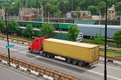 Transportation of cargoes by lorry and railroad