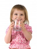 image of drinking water  - Little girl drink the water - JPG