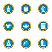 Wanted Icons Set. Flat Set Of 9 Wanted Icons For Web Isolated On White Background poster