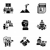 Political Debate Icon Set. Simple Set Of 9 Political Debate Vector Icons For Web Design Isolated On  poster