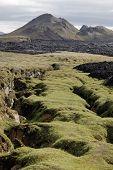 Постер, плакат: Крапла Вулканические разломы Исландия