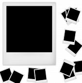 stock photo of polaroid  - Polaroid photo frame isolated on white background - JPG