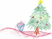 Christmas Crayon Drawing