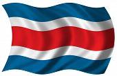Постер, плакат: Флаг Коста Рики