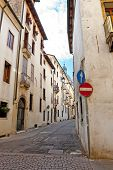 picture of vicenza  - Narrow Alley with Old Buildings in the Vicenza - JPG