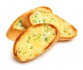 Garlic and herb bread slices