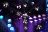 stock photo of trippy  - Multicolored stage lights at rock concert - JPG