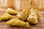 stock photo of malaysian food  - Ketupat or packed rice dumpling - JPG