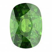 pic of alexandrite  - Gemstone on white background  - JPG