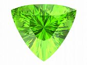 picture of peridot  - Peridot on white background  - JPG