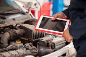 Using tablet computer in auto shop