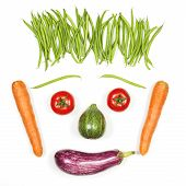 Happy Face With Vegetables