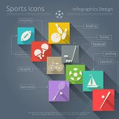 image of ping pong  - Flat Icons Set  - JPG