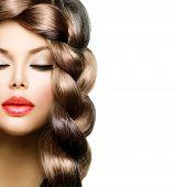 stock photo of braids  - Hair Braid - JPG
