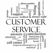 picture of rep  - Customer Service Word Cloud Concept in black and white with great terms such as call center help staff rep and more - JPG