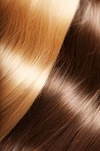 pic of hair streaks  - Shiny texture hair - JPG